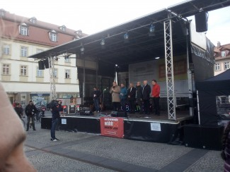 Fest der Demokratie am Maxplatz in Bamberg
